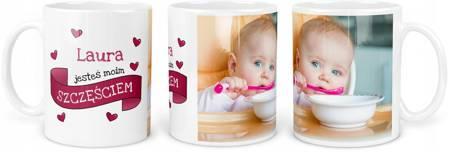 Kubek dla Dziecka Dziewczynki z Twoim Zdjęciem Imieniem